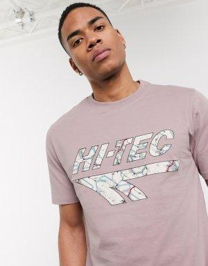 Футболка с принтом на груди h-Фиолетовый цвет Hi-Tec