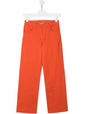 Джинсы широкого кроя Stella McCartney Kids. Цвет: оранжевый