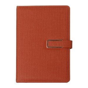 Органайзер, формат а5, с хлястиком, 100 листов, линия, обложка пвх коричневый Calligrata