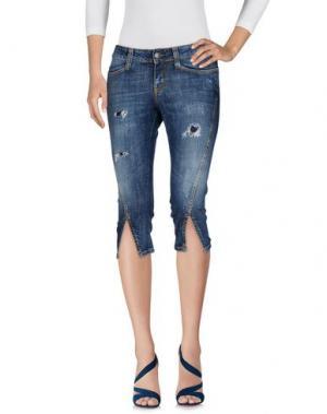 Джинсовые брюки-капри CK CALVIN KLEIN. Цвет: синий