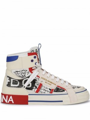 Высокие кроссовки 2.Zero Dolce & Gabbana. Цвет: белый