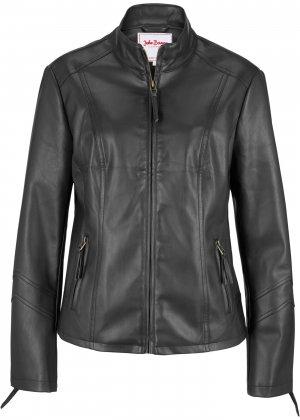 Куртка из искусственной кожи bonprix. Цвет: черный