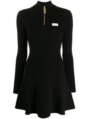 Платье мини в спортивном стиле Gcds. Цвет: черный