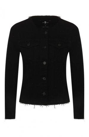 Джинсовая куртка 7 For All Mankind. Цвет: чёрный