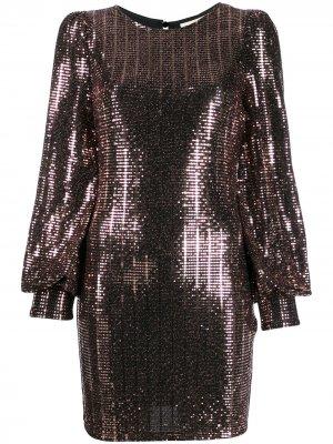 Короткое платье с пайетками Aniye By. Цвет: черный
