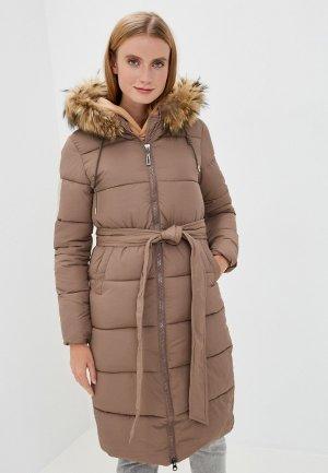 Куртка утепленная Mallanee. Цвет: коричневый