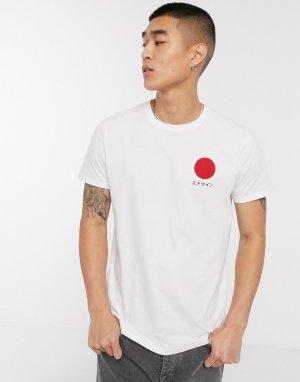 Белая футболка с принтом -Белый Edwin