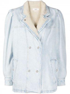Джинсовая куртка с меховой подкладкой Isabel Marant Étoile. Цвет: синий