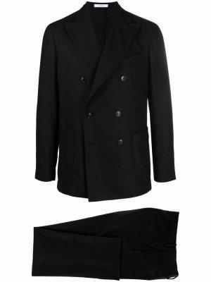 Костюм с двубортным пиджаком Boglioli. Цвет: черный