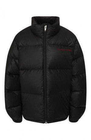Пуховая куртка Alexander Wang. Цвет: чёрный