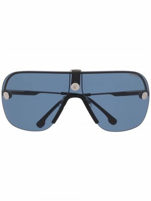 Солнцезащитные очки с эффектом градиента Carrera. Цвет: серебристый