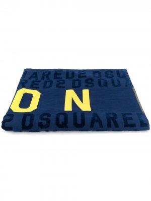 Пляжное полотенце Icon Dsquared2. Цвет: синий