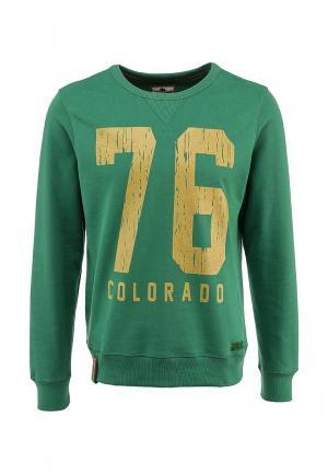 Свитшот Colorado Jeans. Цвет: зеленый