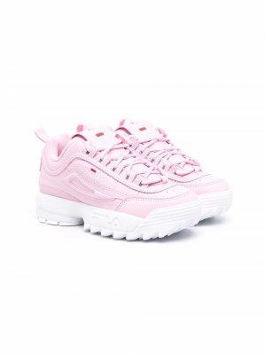 Disruptor lace-up sneakers Fila Kids. Цвет: розовый