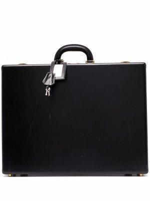 Портфель Doctor 1970-х годов Hermès. Цвет: черный