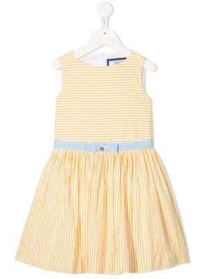 Платье в горизонтальную полоску Simonetta. Цвет: желтый