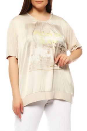 Блуза FRANK WALDER. Цвет: бежевый