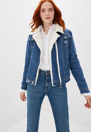 Куртка джинсовая Marcella. Цвет: синий