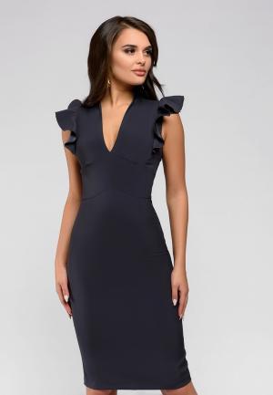 Платье D&M by 1001 dress. Цвет: серый