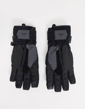 Черные горнолыжные перчатки с технологией Gore-tex от Hill Core-Черный Quiksilver