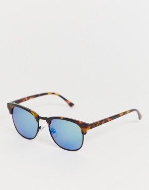 Коричневые солнцезащитные очки в черепаховой оправе Dunville-Коричневый Vans