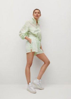 Адаптируемые спортивные шорты - Gilda Mango. Цвет: пастельно-зеленый