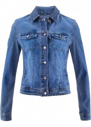 Джинсовая куртка от Maite Kelly bonprix. Цвет: синий