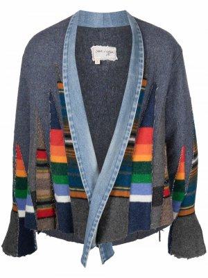 Куртка с длинными рукавами и вставками Greg Lauren. Цвет: серый