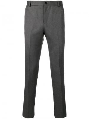Классические брюки строгого кроя Thom Browne. Цвет: серый
