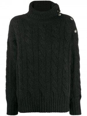 Водолазка фактурной вязки Polo Ralph Lauren. Цвет: черный