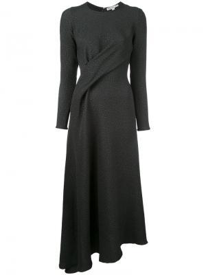 Платье с драпировкой Edeline Lee. Цвет: черный