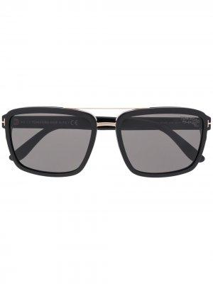 Солнцезащитные очки Anders в квадратной оправе TOM FORD Eyewear. Цвет: черный