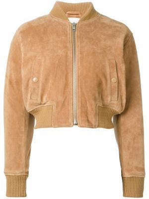 Куртка-бомбер See By Chloé. Цвет: телесный