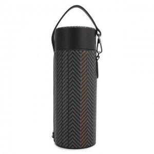 Кожаный футляр для бутылки Ermenegildo Zegna. Цвет: серый