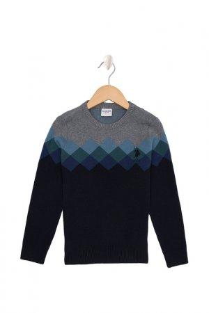 Джемпер U.S. Polo Assn.. Цвет: vr033 темно-синий, серый