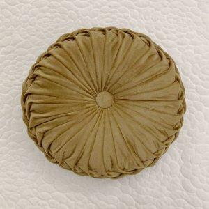 Декоративная подушка Однотонный круглый SHEIN. Цвет: жёлтовато бурые