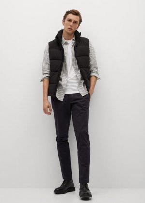 Укороченные брюки-чинос tapered - Prato Mango. Цвет: черный