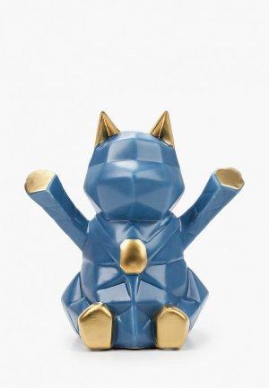 Фигурка декоративная Mandarin Decor Восточный кот. Цвет: синий