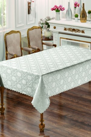 Скатерть 150x220 Rosanna Arya home collection. Цвет: серый