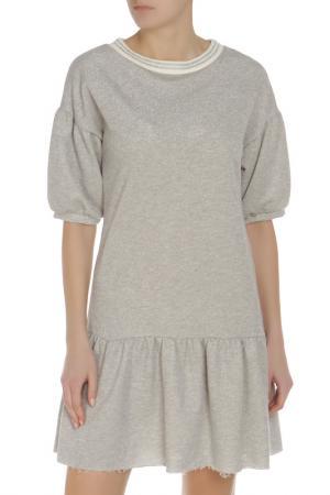 Платье Rinascimento. Цвет: серебристый