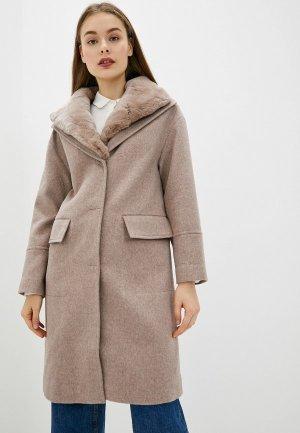 Пальто Acasta. Цвет: бежевый