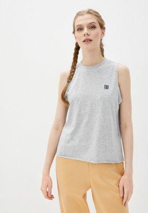 Майка DKNY. Цвет: серый