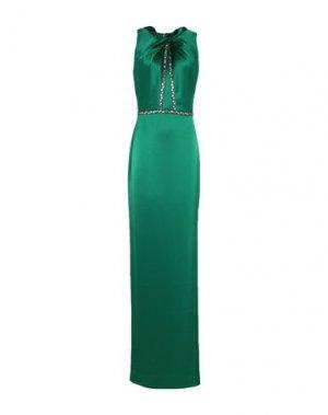 Длинное платье ST. JOHN. Цвет: изумрудно-зеленый