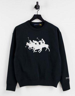 Черный свитер с несколькими лошадьми для поло -Черный цвет Polo Ralph Lauren
