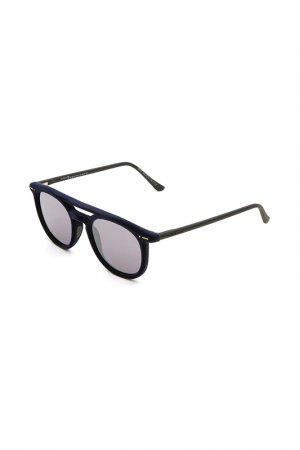 Очки солнцезащитные с линзами Italia Independent. Цвет: 021 000 синий, черный