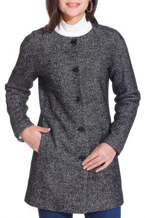 Пальто Gloss. Цвет: черно-серый