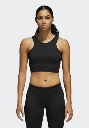 Топ спортивный adidas CROP TOP. Цвет: черный