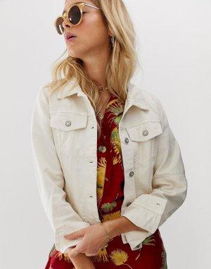 Белая джинсовая куртка Rumors-Белый Free People