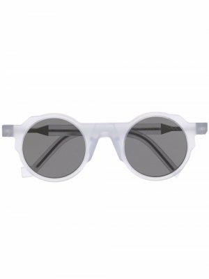 Солнцезащитные очки BL0002 в круглой оправе VAVA Eyewear. Цвет: белый