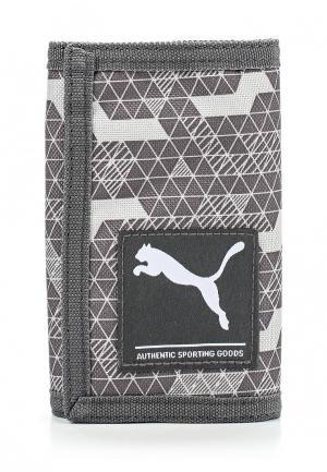 Кошелек Puma Academy Wallet glacier gray-facture. Цвет: серый